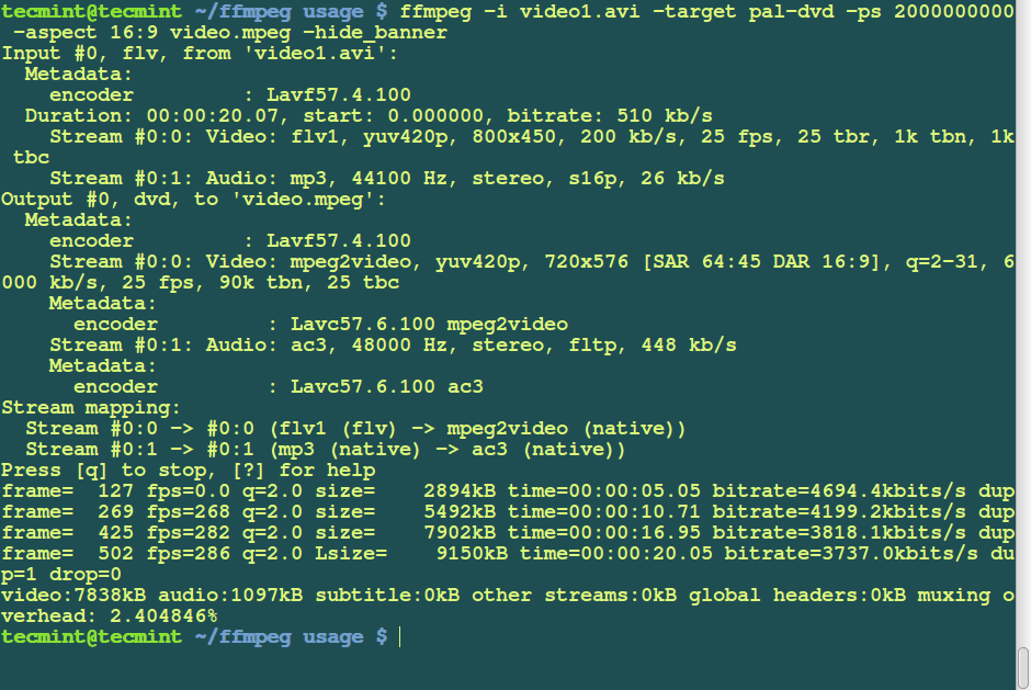 15 Useful 'FFmpeg' Commands for Video, Audio and Image Conversion in Linux – Part 2