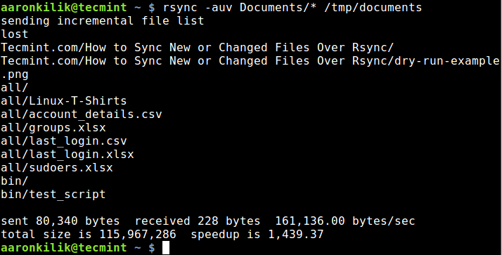 How to Use Rsync to Sync New or Changed/Modified Files in Linux